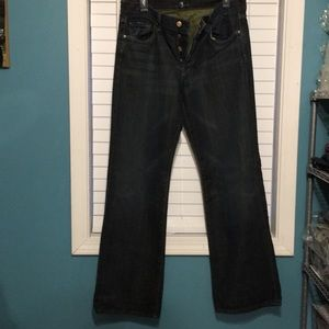 7 For All Mankind Men's Button Fly Jeans Size 33